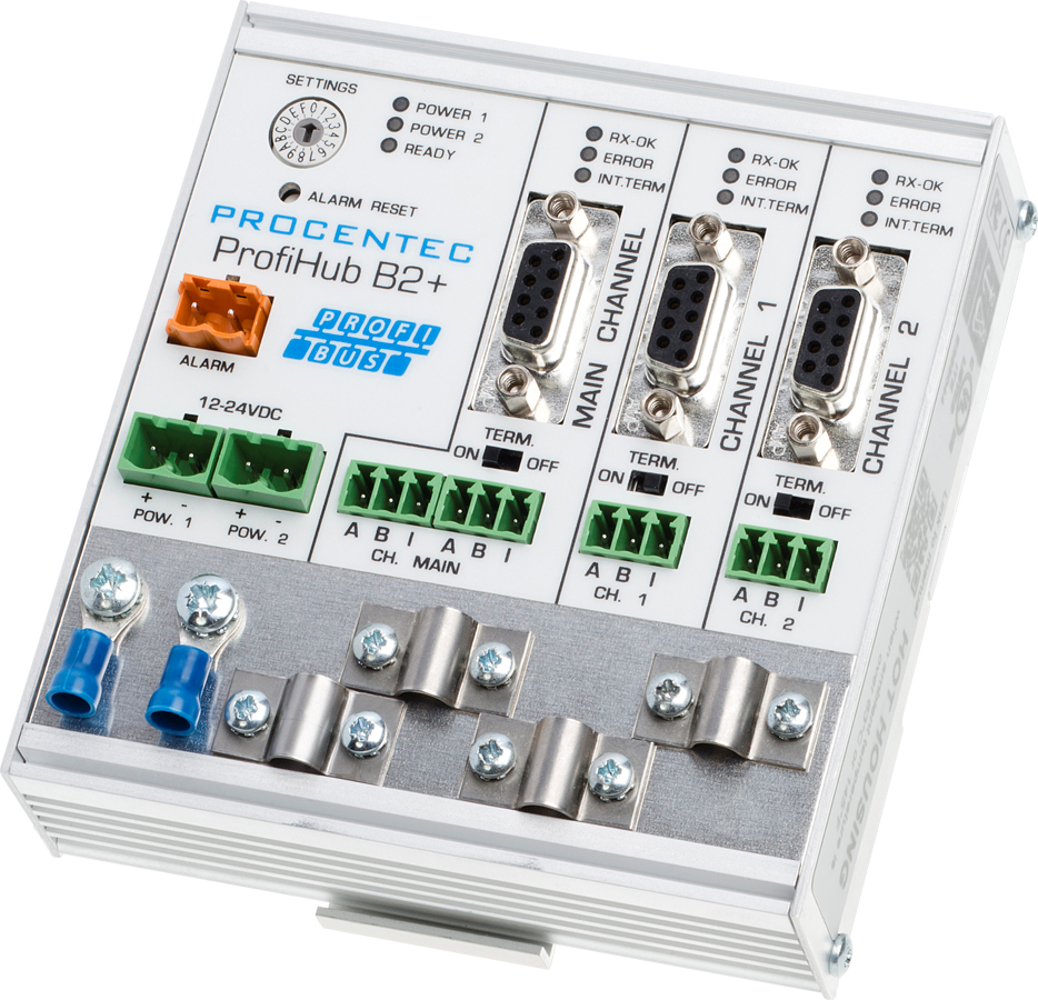 ProfiHub B2+R - 3 Segment redundant PROFIBUS DP Repeater - visual 1